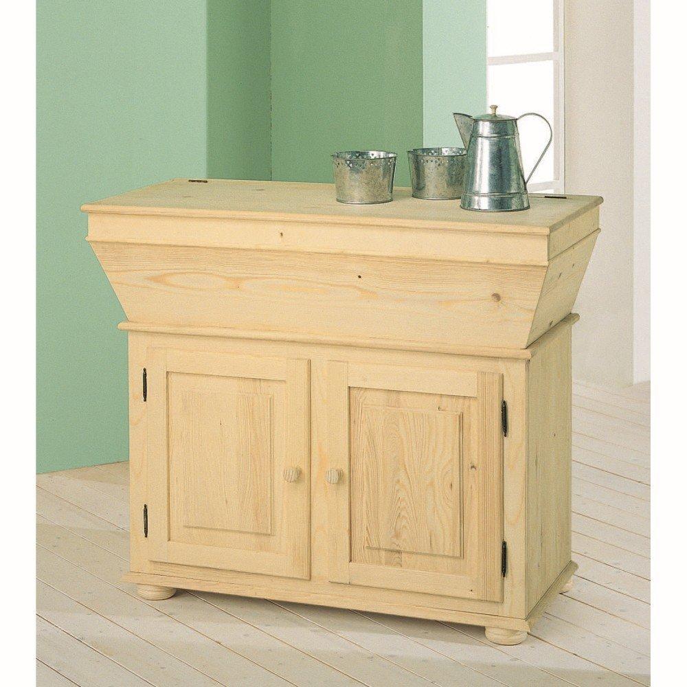 Mobile basso per cucina da verniciare in legno abete for Mobile basso da cucina