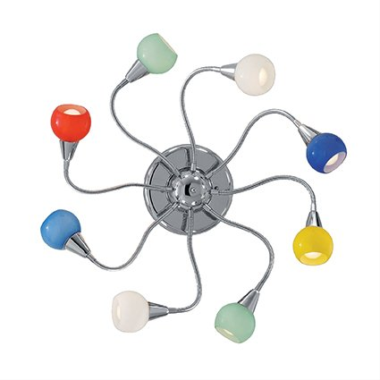 Ideal lux tender pl8 color lampada da soffitto plafoniera 8 luci