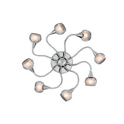 Ideal lux tender pl8 trasparente lampada da soffitto plafoniera