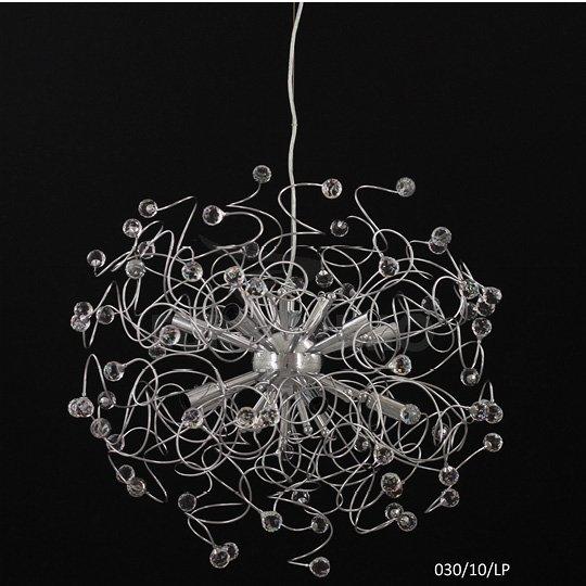 Lampadario A Sospensione Design Moderno Cristallo 10 Luci