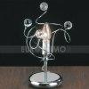 Lampada Lume Abatjours Moderno con Sfere In Cristallo 1 Luce