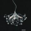 Lampadario A Sospensione Design Moderno Cristallo 3 Luci