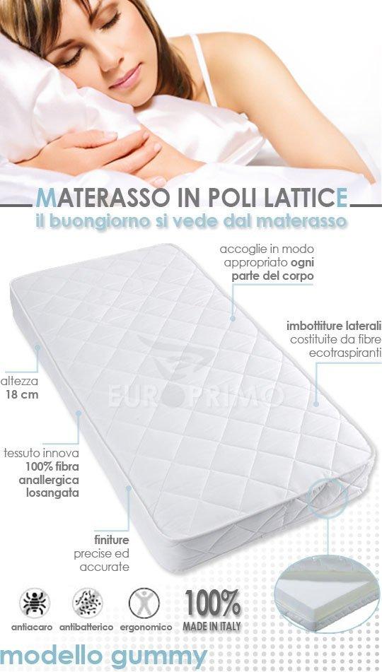 Materasso Singolo in Offerta Poli Lattice - Modello Gummy [GUMMY-S] - 59.90EURO : EUROPRIMO, lo ...