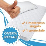 Set completo Materasso Singolo Summy + Cuscino   > Materasso Singolo in Poli Lattice La struttura del Materasso è composta da un particolare materiale indeformabile simile al lattice e...